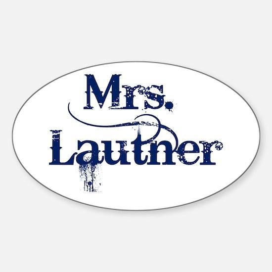 Mrs. Lautner Sticker (Oval)