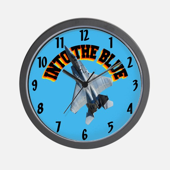 F15 Into the Blue Wall Clock