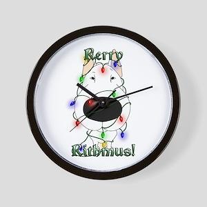 Bull Terrier - Rerry Rithmus Wall Clock