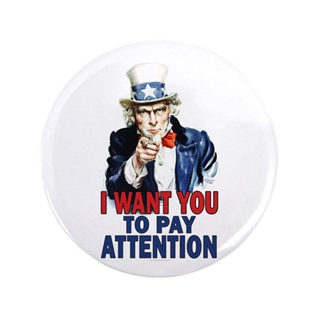 "Uncle Sam: Classroom 3.5"" Button"