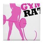 Gym Rat Tile Coaster
