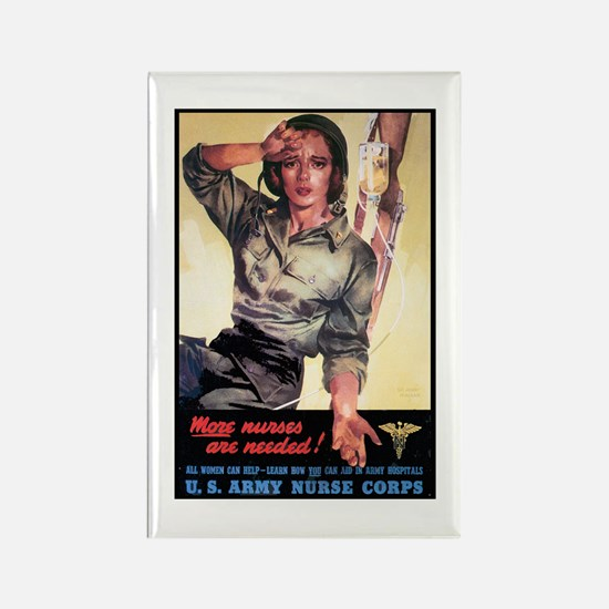 More Nurses Poster Art Rectangle Magnet