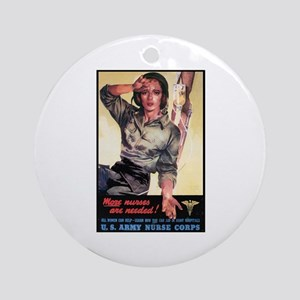 More Nurses Poster Art Ornament (Round)