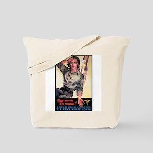 More Nurses Poster Art Tote Bag