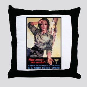 More Nurses Poster Art Throw Pillow