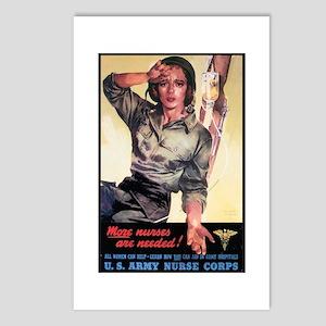 More Nurses Poster Art Postcards (Package of 8)
