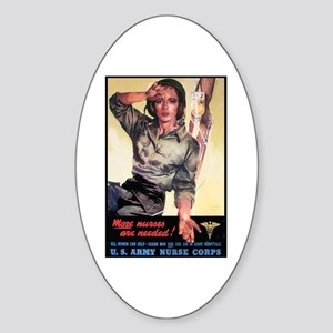 More Nurses Poster Art Oval Sticker