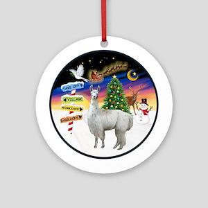 Xmas Signs - Llama #12Ornament (Round)