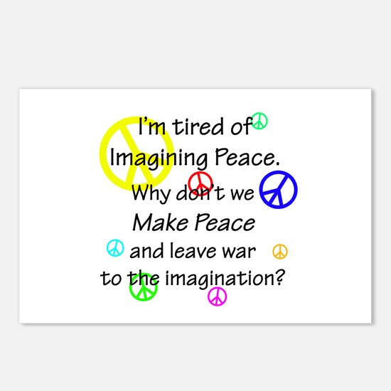 Make Peace/Imagine War Postcards (Package of 8)
