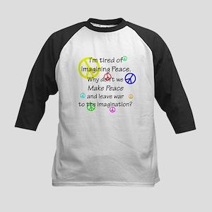 Make Peace/Imagine War Kids Baseball Jersey