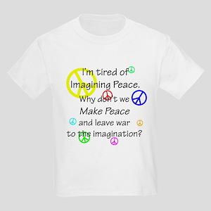 Make Peace/Imagine War Kids Light T-Shirt