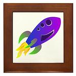 Rocket ship Framed Tile