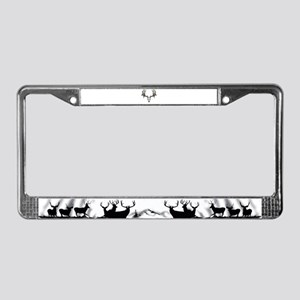 European mount mule deer License Plate Frame
