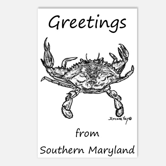 Maryland Crab Postcards (Package of 8)