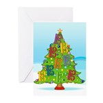 Alto/Tenor Clef Christmas Greeting Cards (Pk of 20
