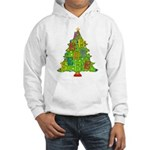 Alto/Tenor Clef Christmas Hooded Sweatshirt