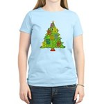 Alto/Tenor Clef Christmas Women's Light T-Shirt