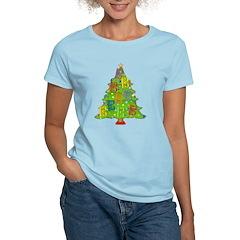 Alto/Tenor Clef Christmas Women's Light T-Shirt