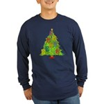 Alto/Tenor Clef Christmas Long Sleeve Dark T-Shirt