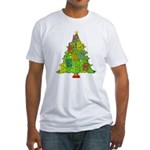 Alto/Tenor Clef Christmas Fitted T-Shirt