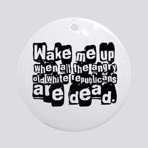 Angry White Republicans Ornament (Round)