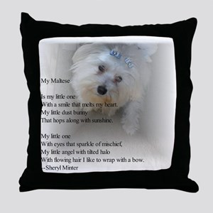 Maltese Poem Throw Pillow