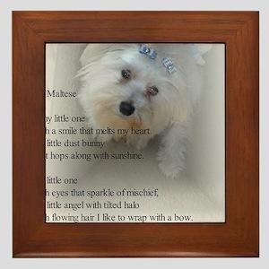 Maltese Poem Framed Tile