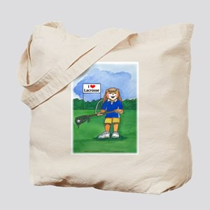 Girls Lax Blue/Gold - Tote Bag