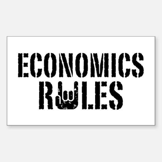 Economics Rules Sticker (Rectangle)