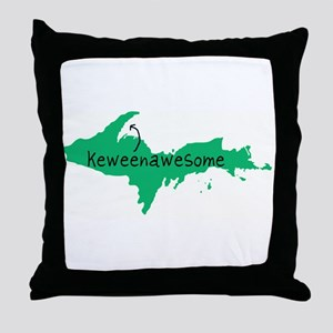 Keweenawesome Throw Pillow
