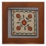 Pomegranate Framed Tile