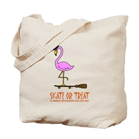 Flamingo Witch Tote Bag
