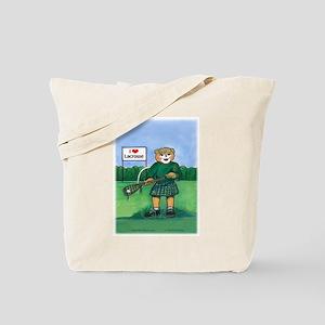 Girls Lax Green - Tote Bag