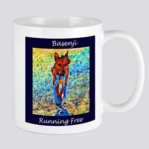 Running Free Basenji Mug