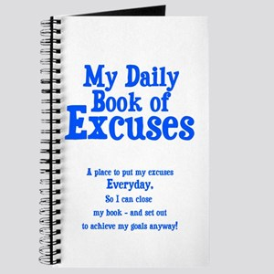 My Book of Excuses Journal