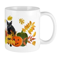 Black Cat Pumpkins Mug