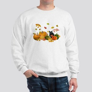 Black Cat Pumpkins Sweatshirt