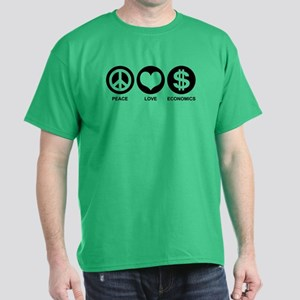 Peace Love Economics Dark T-Shirt