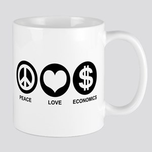 Peace Love Economics Mug