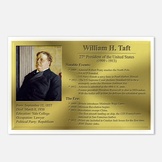 27: William H. Taft Postcards (8 Pack)