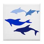 Dolphin Logo Tile Coaster