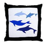 Dolphin Logo Throw Pillow