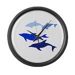 Dolphin Logo Large Wall Clock