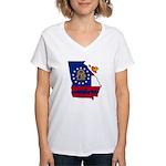 ILY Georgia Women's V-Neck T-Shirt