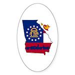 ILY Georgia Sticker (Oval 50 pk)