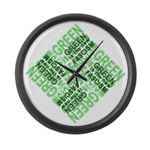 Green is the New Fascism Large Wall Clock