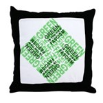 Green is the New Fascism Throw Pillow