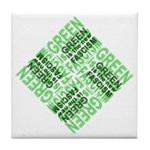 Green is the New Fascism Tile Coaster