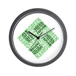 Green is the New Fascism Wall Clock