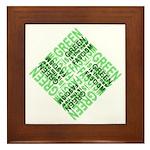 Green is the New Fascism Framed Tile